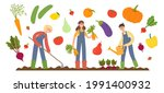 flat cartoon vector...   Shutterstock .eps vector #1991400932