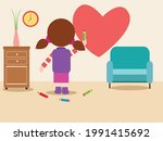 child painting vector concept.... | Shutterstock .eps vector #1991415692