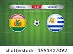 bolivia vs uruguay scoreboard... | Shutterstock .eps vector #1991427092