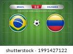 brazil vs colombia scoreboard... | Shutterstock .eps vector #1991427122