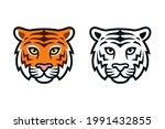 cartoon tiger head  color and...   Shutterstock .eps vector #1991432855