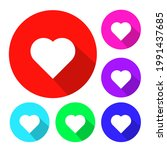 love symbol hart flat icon... | Shutterstock .eps vector #1991437685