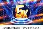 5x winner banner  promotion... | Shutterstock .eps vector #1991444615