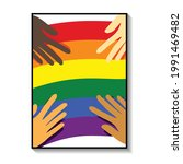 gay pride month poster... | Shutterstock .eps vector #1991469482