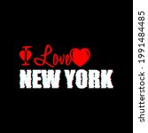 made with love in new york.... | Shutterstock .eps vector #1991484485