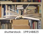 opened book close up with... | Shutterstock . vector #199148825