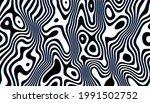 distorted black ink stripes...   Shutterstock .eps vector #1991502752