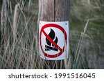 No Camp Fire Sign. Sign Which...