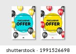 exclusive offer text. flyer... | Shutterstock .eps vector #1991526698