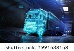 futuristic truck with trailer...