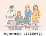 teamwork  brainstorm  working... | Shutterstock .eps vector #1991589512