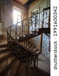 Old Vintage Spiral Staircase At ...