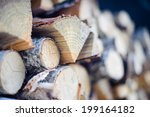 Firewood Dry Chopped Logs In A...
