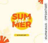 modern summer sale design... | Shutterstock .eps vector #1991647685