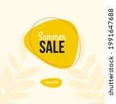 modern summer sale design... | Shutterstock .eps vector #1991647688