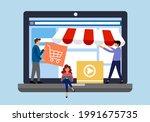 build your online shopping... | Shutterstock .eps vector #1991675735