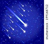 comet and stars shooting...   Shutterstock .eps vector #199168712
