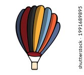 multicolored hot air balloon... | Shutterstock .eps vector #1991689895