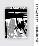 black and gray ink brush stroke ...   Shutterstock .eps vector #1991694335