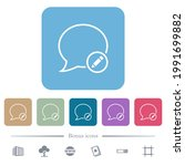 edit message white flat icons... | Shutterstock .eps vector #1991699882