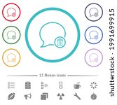 delete message flat color icons ... | Shutterstock .eps vector #1991699915