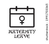 maternity leave icon  ... | Shutterstock .eps vector #1991703365