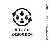 human resource icon  ... | Shutterstock .eps vector #1991704805