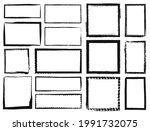 grunge frames. textured square...   Shutterstock .eps vector #1991732075