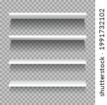 white shelves. empty showcase...   Shutterstock .eps vector #1991732102