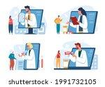 online doctor. patients...   Shutterstock .eps vector #1991732105