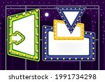 banners glowing light bulbs set   Shutterstock .eps vector #1991734298