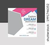 social media post banner with... | Shutterstock .eps vector #1991746352