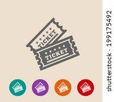 vector vintage ticket icon on... | Shutterstock .eps vector #199175492