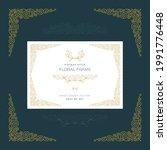 vintage style floral frame ...   Shutterstock .eps vector #1991776448
