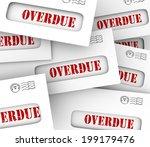 overdue word in envelopes to...   Shutterstock . vector #199179476