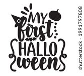 my first halloween background... | Shutterstock .eps vector #1991797808