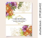 invitation greeting card with...   Shutterstock .eps vector #1991816432