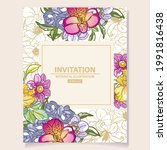 invitation greeting card with...   Shutterstock .eps vector #1991816438