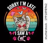 Cat Lover Vector Illustration...