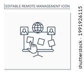 planning board line icon....   Shutterstock .eps vector #1991926115