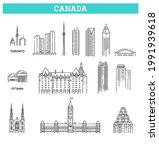 canada. vector icon set... | Shutterstock .eps vector #1991939618