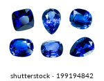 Blue Sapphire Isolated On Whit...