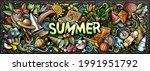 summer hand drawn cartoon... | Shutterstock .eps vector #1991951792