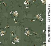 seamless vector paisley... | Shutterstock .eps vector #1991962592