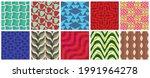 geometric 3d tileable texture... | Shutterstock .eps vector #1991964278