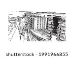 building view with landmark of...   Shutterstock .eps vector #1991966855
