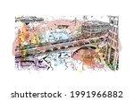 building view with landmark of...   Shutterstock .eps vector #1991966882