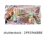 building view with landmark of...   Shutterstock .eps vector #1991966888