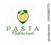 pasta restaurant logo. italian...   Shutterstock .eps vector #1991980775