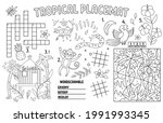 vector tropical placemat for... | Shutterstock .eps vector #1991993345